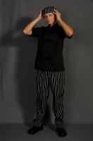 Szakácskabát rövidujjú fekete
